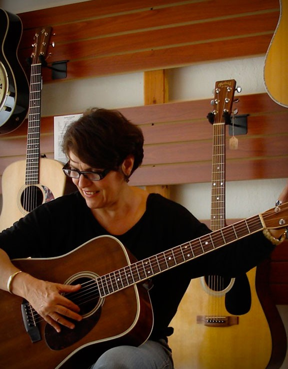 Checking Out An Acoustic Guitar